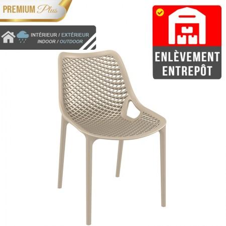 Chaise Elif - Taupe / RESTONOBLE | Enlèvement entrepôt