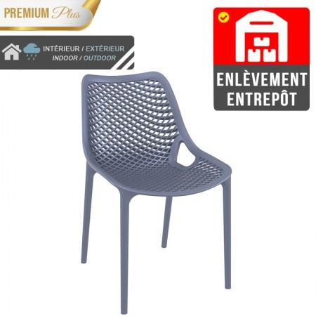 Chaise Elif - Gris / RESTONOBLE | Enlèvement entrepôt