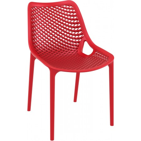 Chaise Elif - Rouge / RESTONOBLE | Enlèvement entrepôt