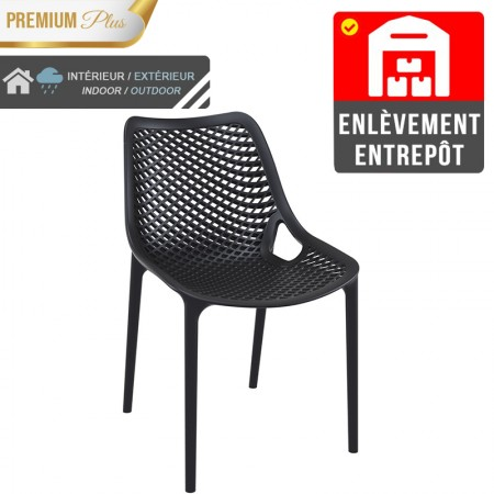 Chaise Elif - Noir / RESTONOBLE | Enlèvement entrepôt