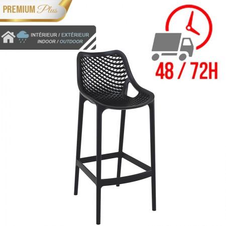 Chaise de bar Elif - Noir / RESTONOBLE