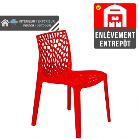 Chaise Jade - Rouge | Enlèvement entrepôt / RESTONOBLE