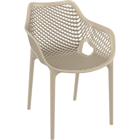 Fauteuil Elif - Taupe / RESTONOBLE