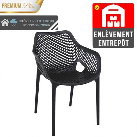 Fauteuil Elif - Noir / RESTONOBLE | Enlèvement entrepôt