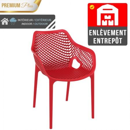 Fauteuil Elif - Rouge / RESTONOBLE | Enlèvement entrepôt