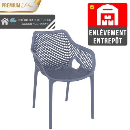 Fauteuil Elif - Gris / RESTONOBLE | Enlèvement entrepôt