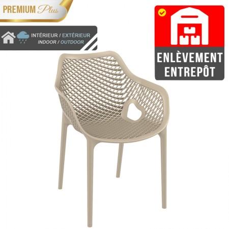 Fauteuil Elif - Taupe / RESTONOBLE | Enlèvement entrepôt