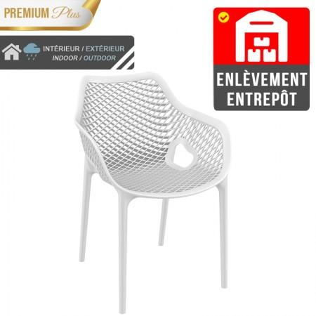 Fauteuil Elif - Blanc / RESTONOBLE | Enlèvement entrepôt