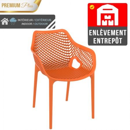 Fauteuil Elif - Orange / RESTONOBLE | Enlèvement entrepôt