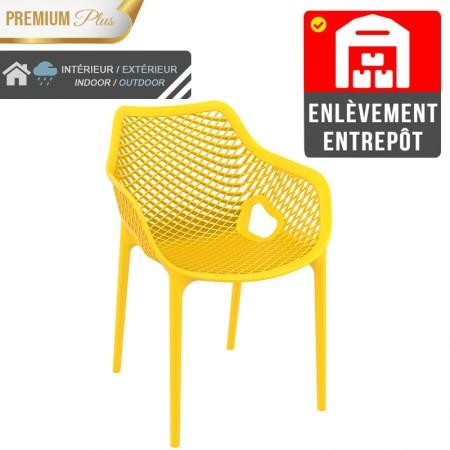 Fauteuil Elif - Jaune / RESTONOBLE | Enlèvement entrepôt