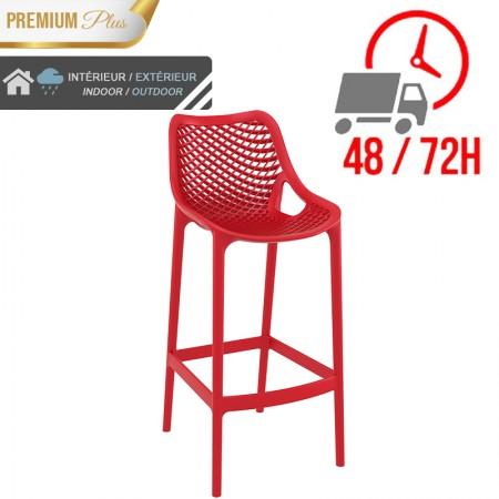 Chaise de bar Elif - Rouge / RESTONOBLE