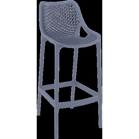 Chaise de bar Elif - Gris / RESTONOBLE