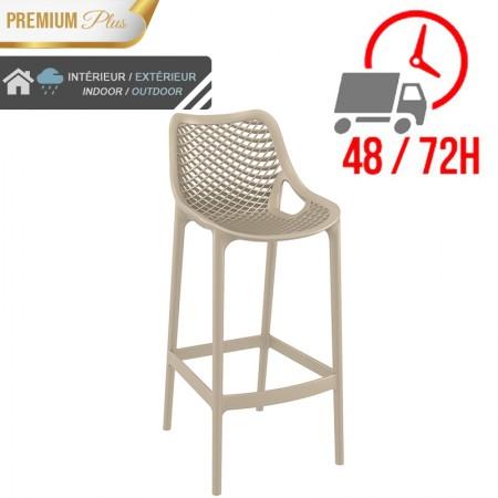 Chaise de bar Elif - Taupe / RESTONOBLE