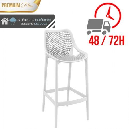 Chaise de bar Elif - Blanc / RESTONOBLE
