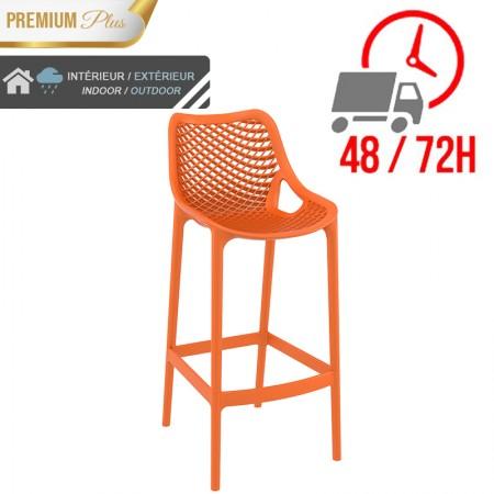 Chaise de bar Elif - Orange / RESTONOBLE
