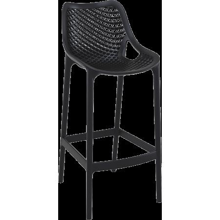 Chaise de bar Elif - Noir / RESTONOBLE | Enlèvement entrepôt
