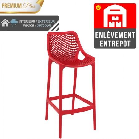 Chaise de bar Elif - Rouge / RESTONOBLE | Enlèvement entrepôt