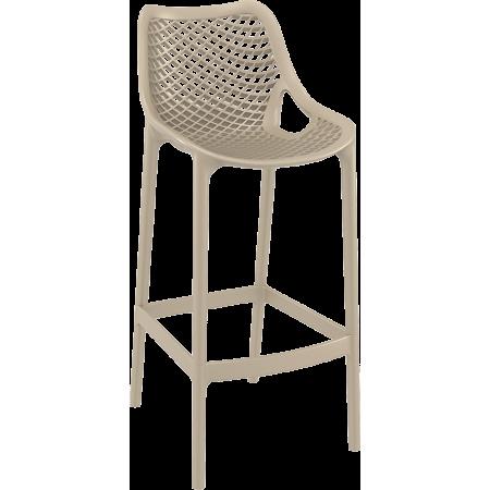 Chaise de bar Elif - Taupe / RESTONOBLE | Enlèvement entrepôt