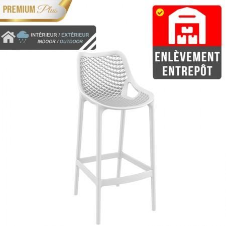 Chaise de bar Elif - Blanc / RESTONOBLE | Enlèvement entrepôt