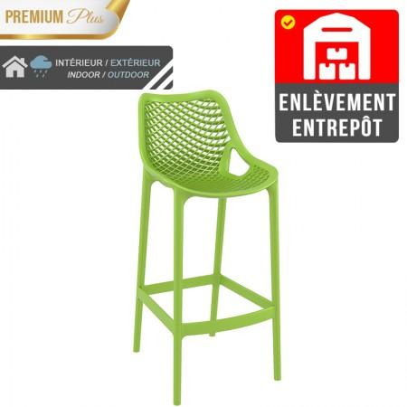 Chaise de bar Elif - Vert / RESTONOBLE | Enlèvement entrepôt