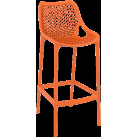 Chaise de bar Elif - Orange / RESTONOBLE | Enlèvement entrepôt