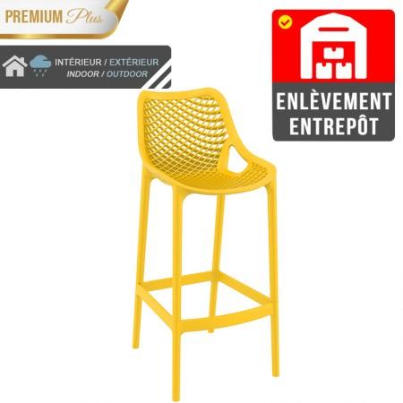 Chaise de bar Elif - Jaune / RESTONOBLE | Enlèvement entrepôt