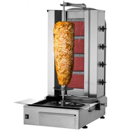 Machine à kebab 4 brûleurs