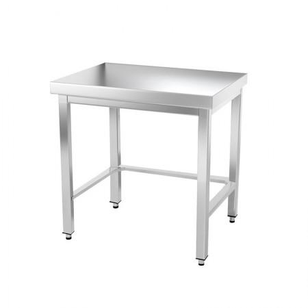 Table inox 800 x 500 mm avec renfort / GOLDINOX