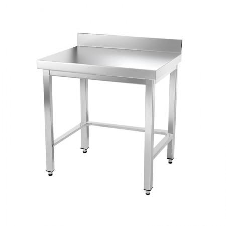 Table inox 600 x 500 mm adossée avec renfort / GOLDINOX