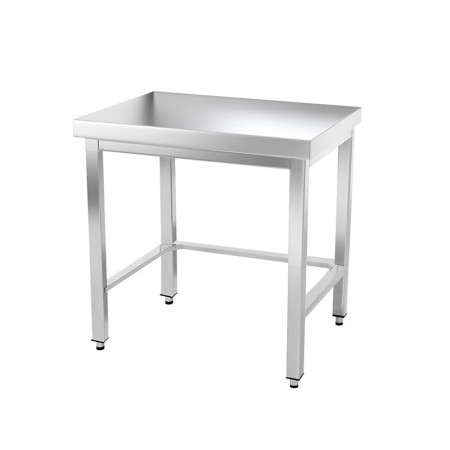 Table inox 600 x 700 mm avec renfort / GOLDINOX