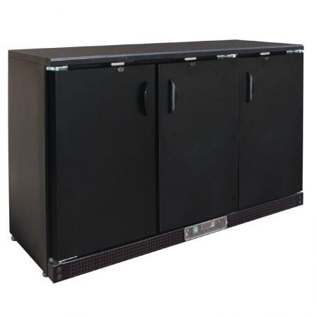 Arrière bar noir / 3 portes pivotante pleine