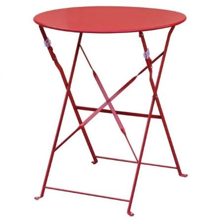 Table de terrasse Ø60cm / Rouge