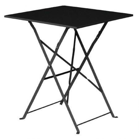 Table de terrasse 60x60cm / Noire
