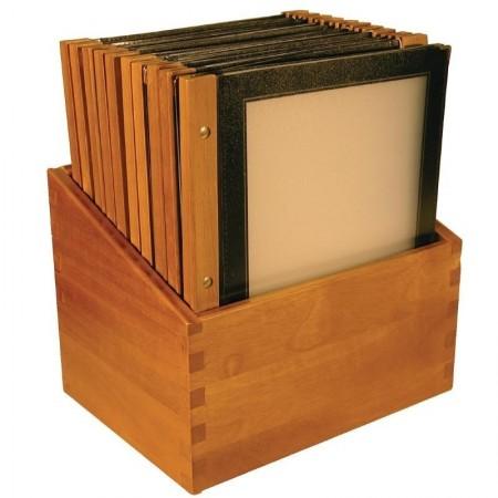 Boîte de 20 protège-menus A4 en bois