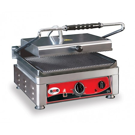 Contact Grill Extra Large Rainuré Haut et Bas - 450x270mm