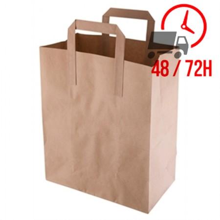Sacs carton moyen 255x215x115 mm / x500