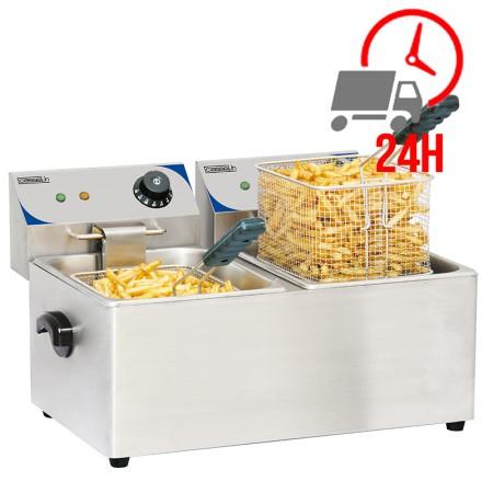 Friteuse électrique 2 x 4L - 4 kW
