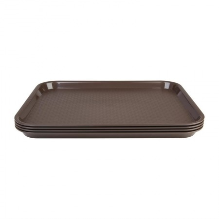 Plateau de service marron 345x265mm - LOT DE 30
