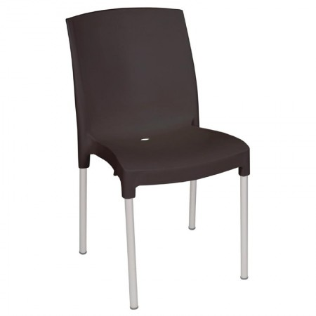 Chaise bistro / polypropylène - noir (LOT DE 4)