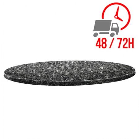 Plateau Granite noir Ø70cm - Classic Line