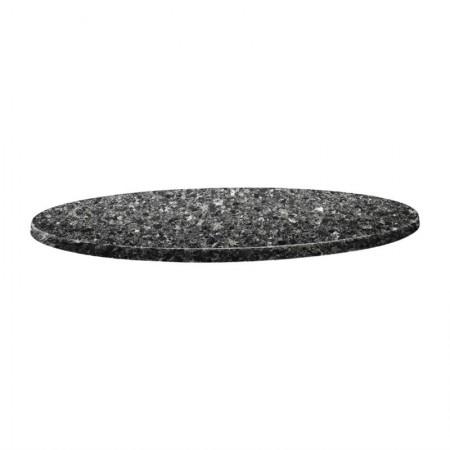 Plateau Granite noir Ø80cm - Classic Line